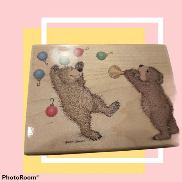 Gruffies scrapbook stamp - ornaments - retired